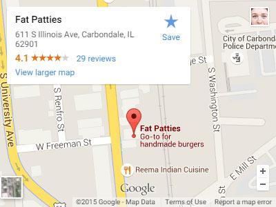Fat Patties Map
